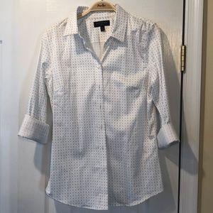Banana republic tailored fit polkadot blouse